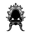 baroque black furniture rich armchair handmade vector image vector image