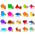 basic geometric shapes with animals vector image vector image