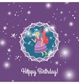Beautiful cartoon princess with lights vector image vector image