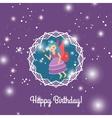 Beautiful cartoon princess with lights vector image