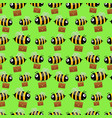 bees with briefcases seamless pattern vector image vector image