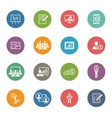 Business Coaching Icon Set Online Learning Flat vector image