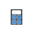 calculator related glyph icon vector image vector image