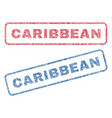 caribbean textile stamps vector image vector image