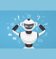 chat bot robot virtual assistance vector image
