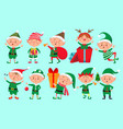 christmas elf character santa claus helpers vector image vector image