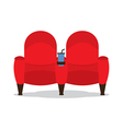 Cinema Seats For Lovers vector image vector image
