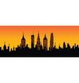 cityscape sunset vector image vector image