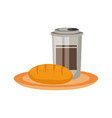 cofee cup and bread vector image