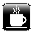 Coffee button vector image