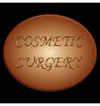 cosmetic surgery vector image vector image