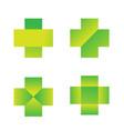 cross health medicine logo designs vector image vector image