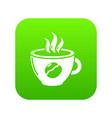 cup coffee icon green vector image vector image