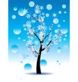 Decorative Winter Tree3 vector image vector image