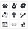 Drugs icon set vector image vector image