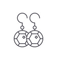 earring line icon concept earring linear vector image vector image