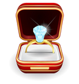 engagement rings in gift box vector image