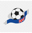 english football isometric icon vector image