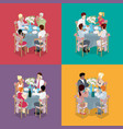 family party celebration isometric vector image vector image