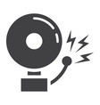 fire alarm solid icon intruder alarm and security vector image vector image