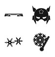 fitness bench mask and other web icon in black vector image