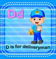 Flashcard letter d is for deliveryman
