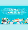 flat design concept for digital marketing vector image