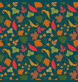 floral seamless pattern with autumn leaves vector image