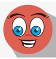 Funny emoticon cartoon design vector image