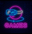 games with glasses virtual reality vector image vector image