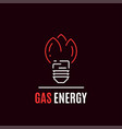gas energy logo template flat style icon design vector image vector image