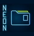 glowing neon line document folder icon isolated on vector image vector image