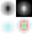 Halftone design vector image