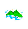 hand drawn mountain logo vector image