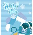 hello baby card vector image vector image
