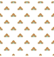 House pattern cartoon style vector image vector image