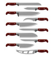 kitchen knife weapon steel sharp dagger metal vector image vector image