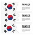 korea south flag banners collection independence vector image