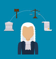 law and justice design vector image