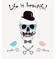 Life is Beautiful Funny vector image vector image
