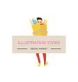 man width card space to type name your business vector image vector image