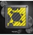 Metallic Frame With Screws vector image vector image