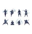ninja character fighting japanese warrior vector image