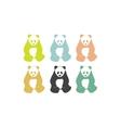 Panda bear silhouettes vector image vector image