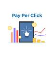 pay per click flat concept vector image