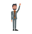 politician man leadership character suit standing vector image