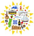 portugal background design portuguese national vector image vector image