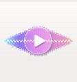 pulse music player audio wave logo equalizer vector image