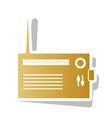 radio sign golden gradient vector image vector image