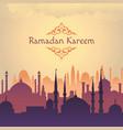ramadan arabik mosgue background vector image vector image